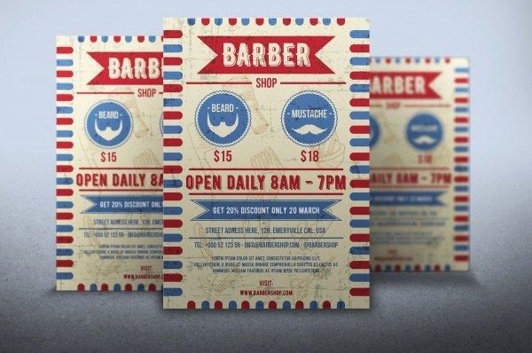 Barber Shop Flyers Template New 27 Barbershop Flyer Template Psd Vector Eps Jpg