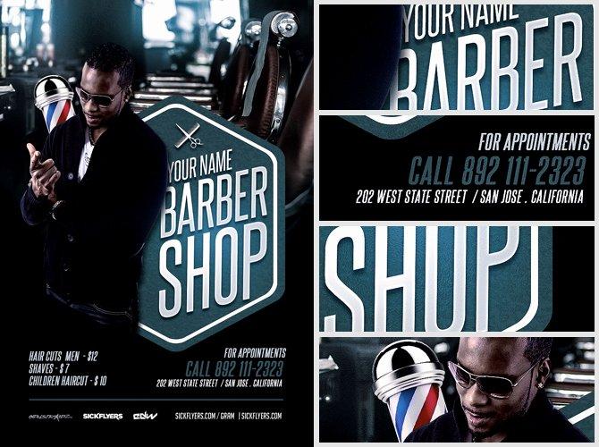 Barber Shop Flyers Template New Barber S Shop Flyer Template Flyerheroes