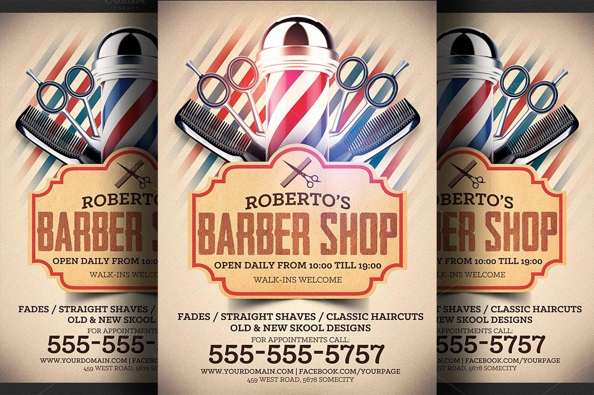 Barber Shop Flyers Template New Barber Shop Flyer Template Flyer Templates On Creative