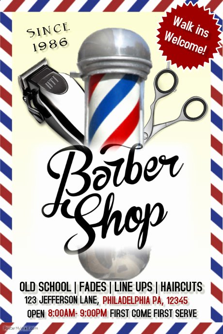 Barber Shop Flyers Template New Barbershop Template