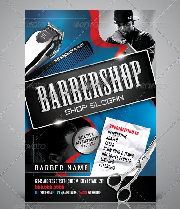 Barber Shop Flyers Template Unique 22 Best Barbershop Flyer Templates & Designs Psd Ai