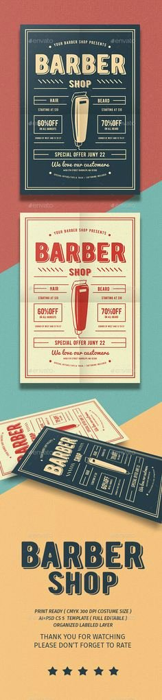 Barber Shop Flyers Template Unique Printable Vintage Barber Shop Business Cards Vintage Hair