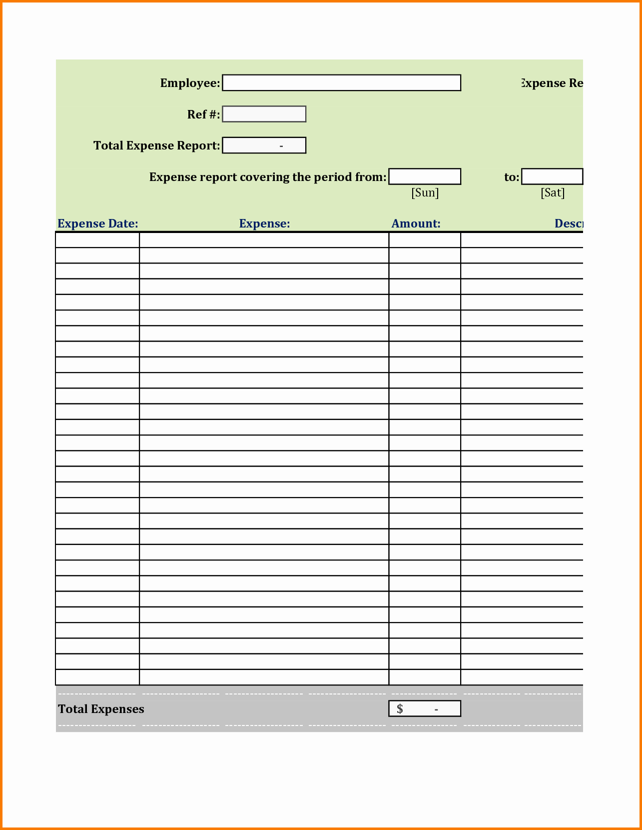 Basic Expense Report Template Best Of Basic Expense Report Template Portablegasgrillweber