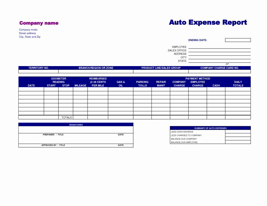 Basic Expense Report Template Elegant Free Printable Basic Expense Report Template Sample