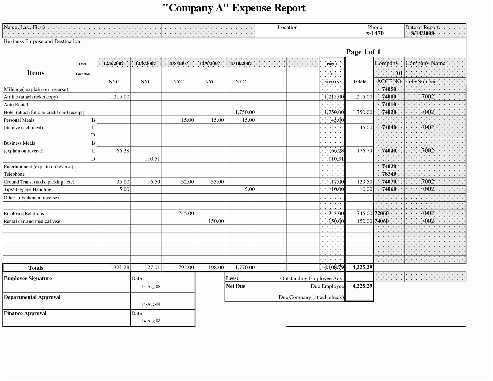 Basic Expense Report Template New Simple Expense Report form Portablegasgrillweber
