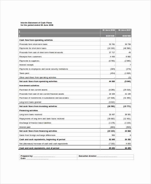 Basic Income Statement Template Awesome 8 Sample Traditional In E Statements