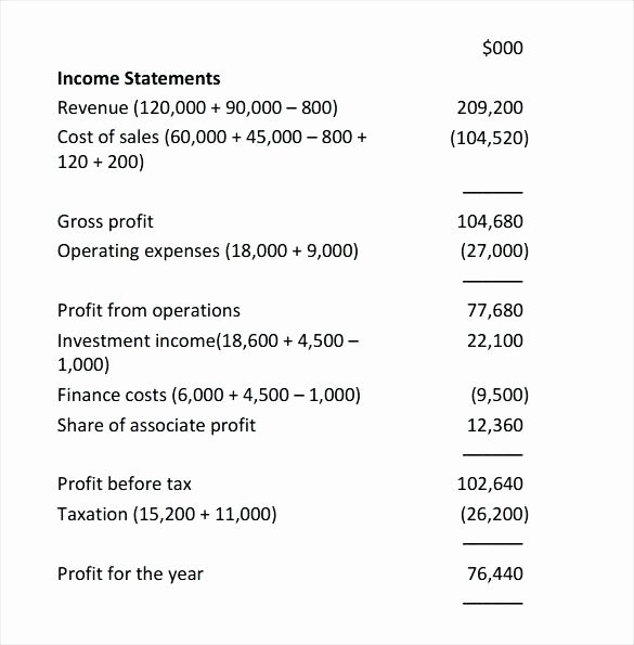 Basic Income Statement Template Fresh Generic In E Statement Basic Financial Template Free S M