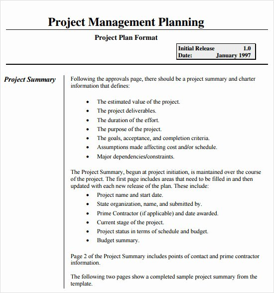 Basic Project Plan Template Elegant 15 Sample Project Plans