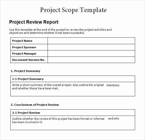 Basic Project Plan Template Lovely 8 Sample Project Scope Templates – Pdf Word