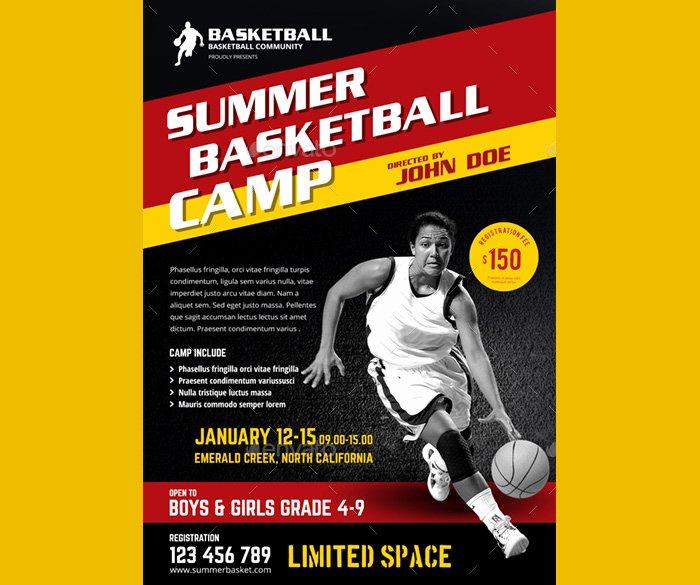 Basketball Camp Flyer Template Awesome 36 Basketball Flyer Psd Templates Free & Premium Designyep