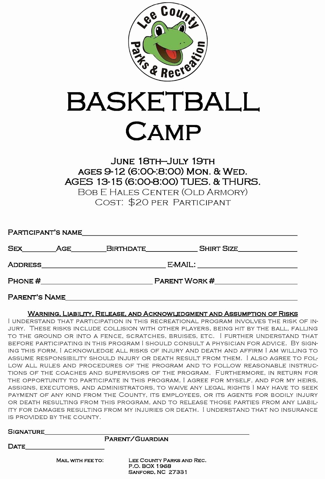Basketball Camp Flyer Template Best Of Lee County Government Basketball Camp