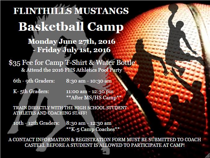 Basketball Camp Flyer Template Elegant Flinthills Usd 492 Summer Basketball Camp Has Been