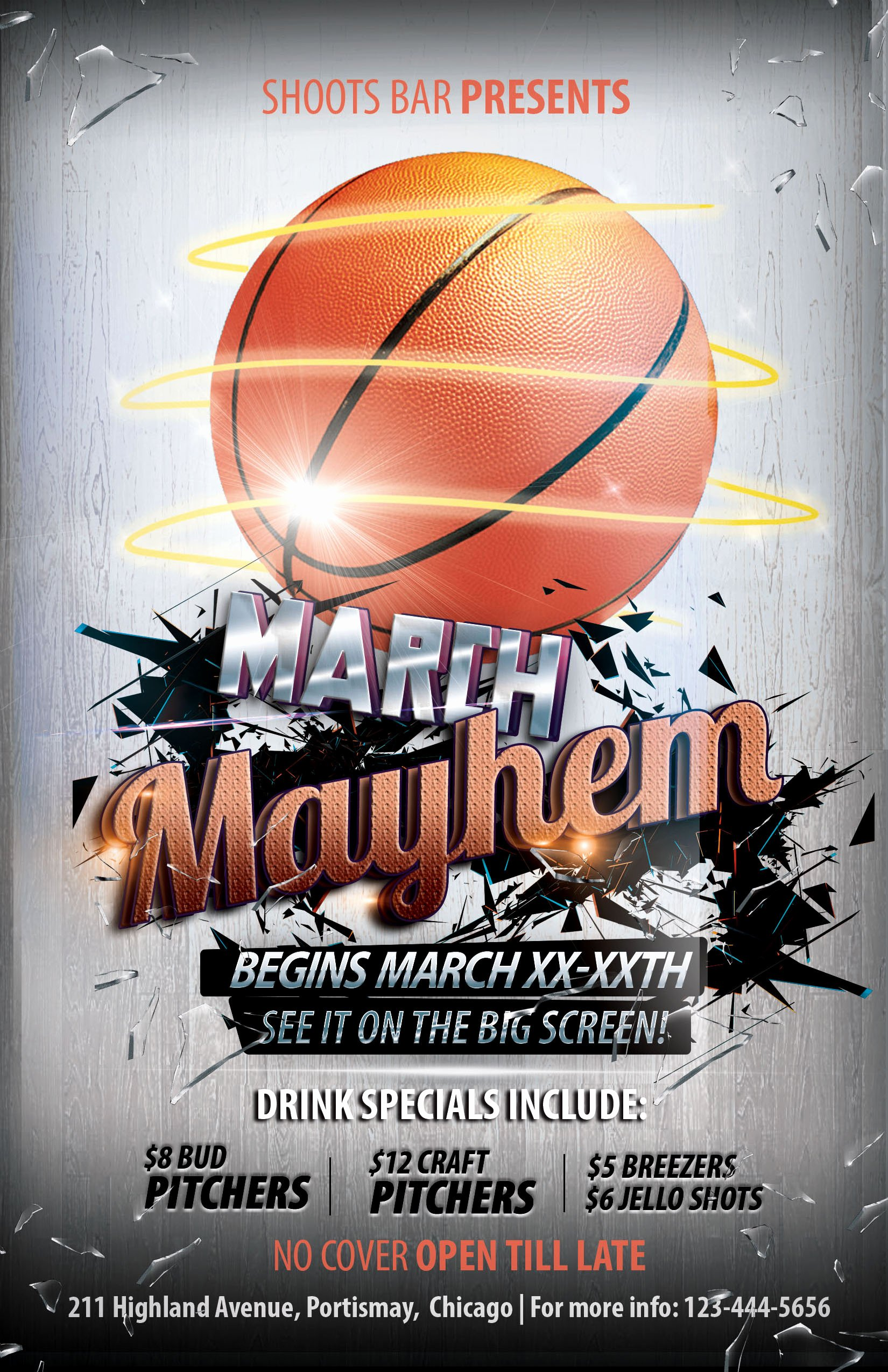 march basketball themed flyer designs photoshop