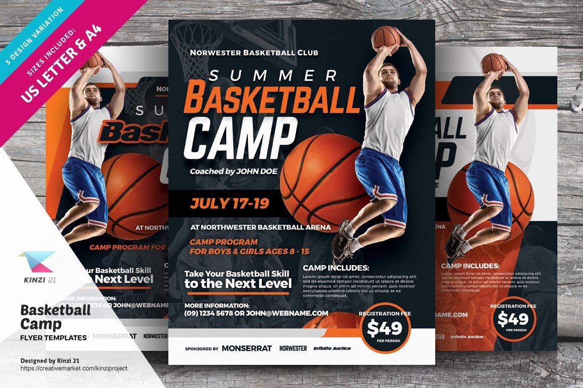 Basketball Camp Flyer Template Fresh Basketball Camp Flyer Templates Flyer Templates