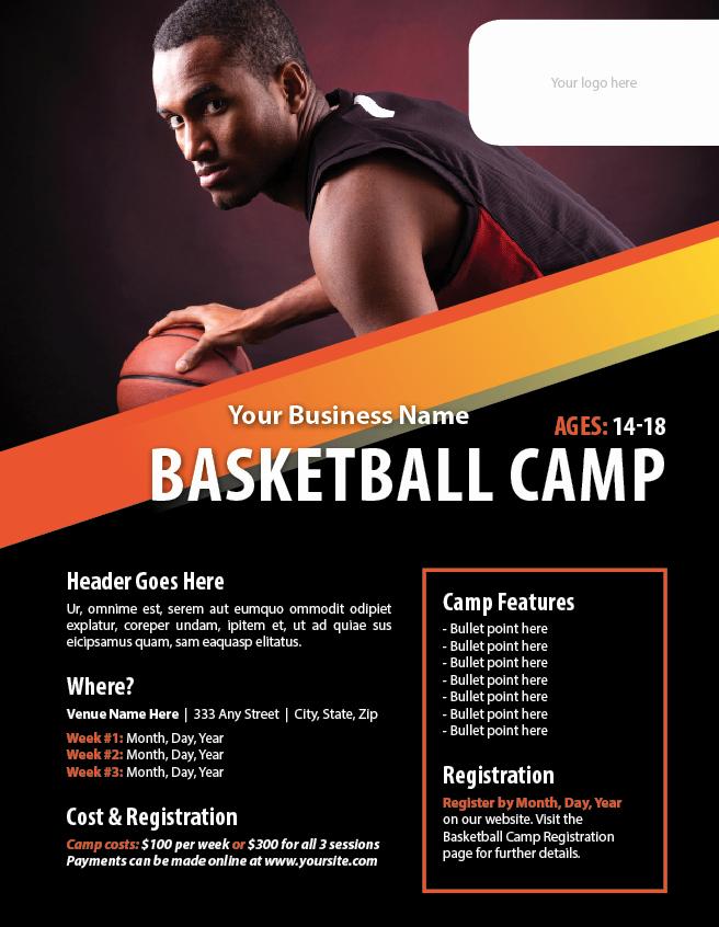 Basketball Camp Flyer Template Inspirational Basketball Camp Flyer Template Poster Templates