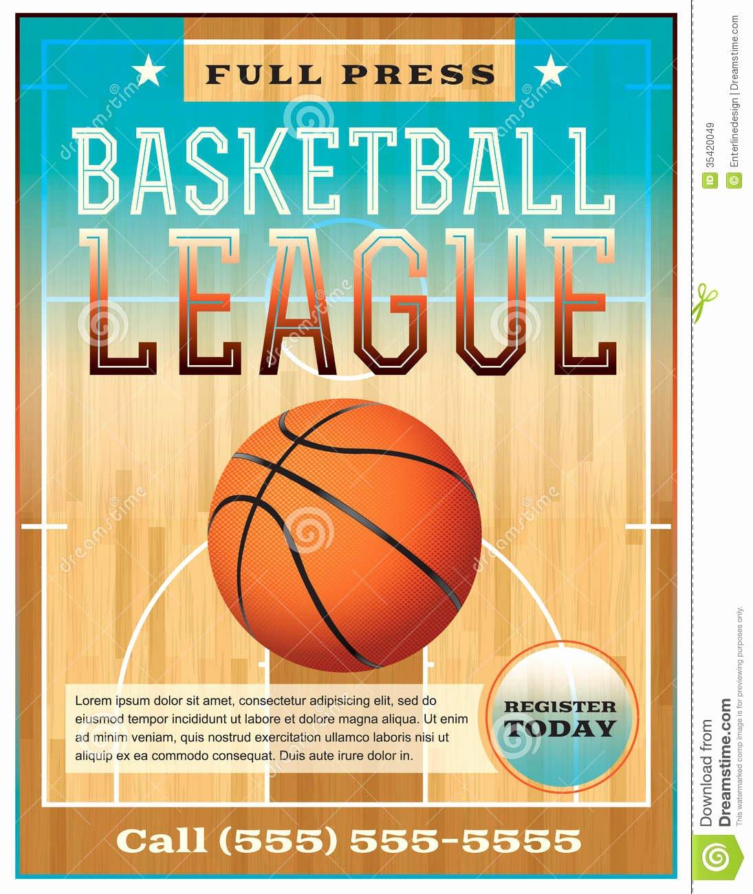 Basketball Camp Flyer Template Lovely Basketball League Flyer Stock Vector Image Of Flyer