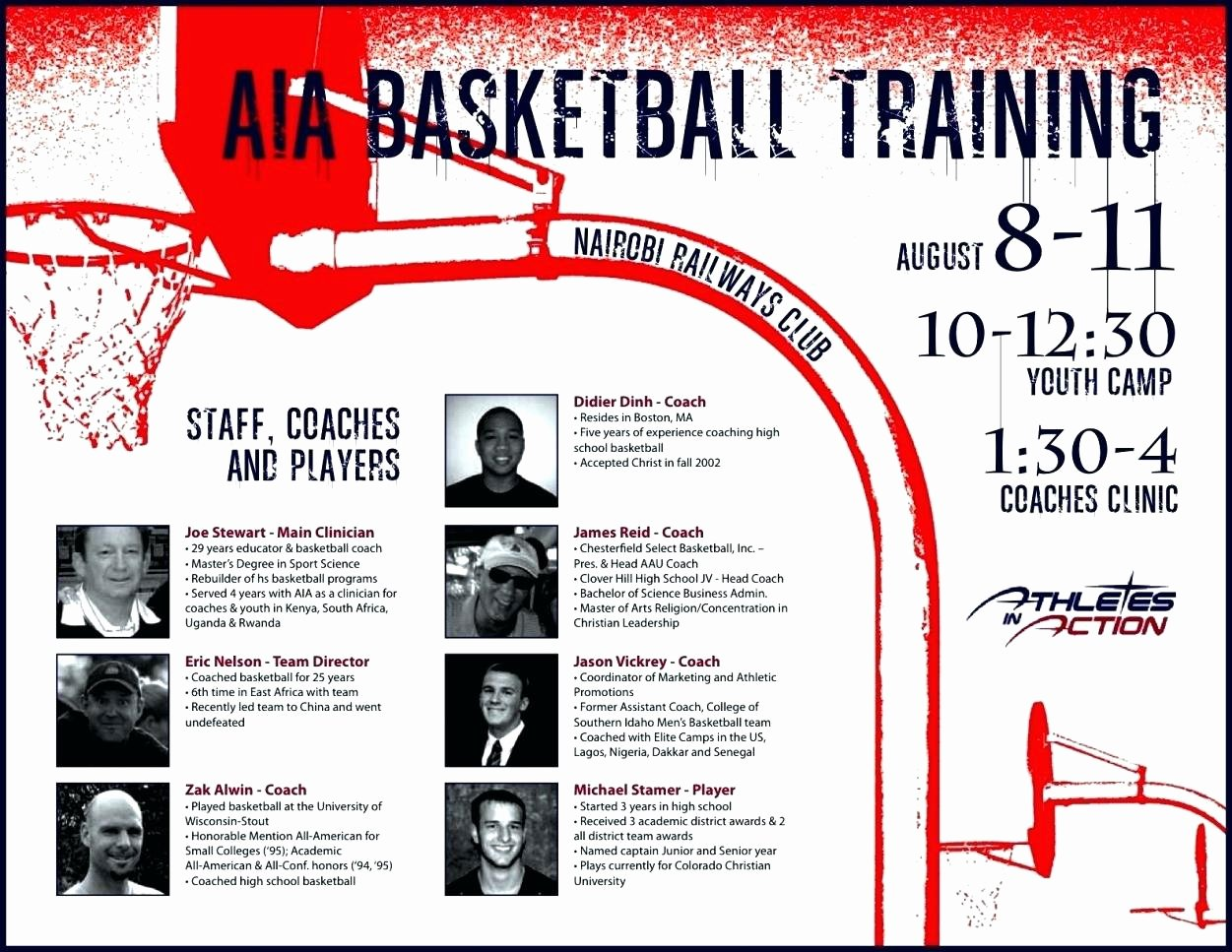 Basketball Camp Flyer Template Lovely Template Basketball Camp Template