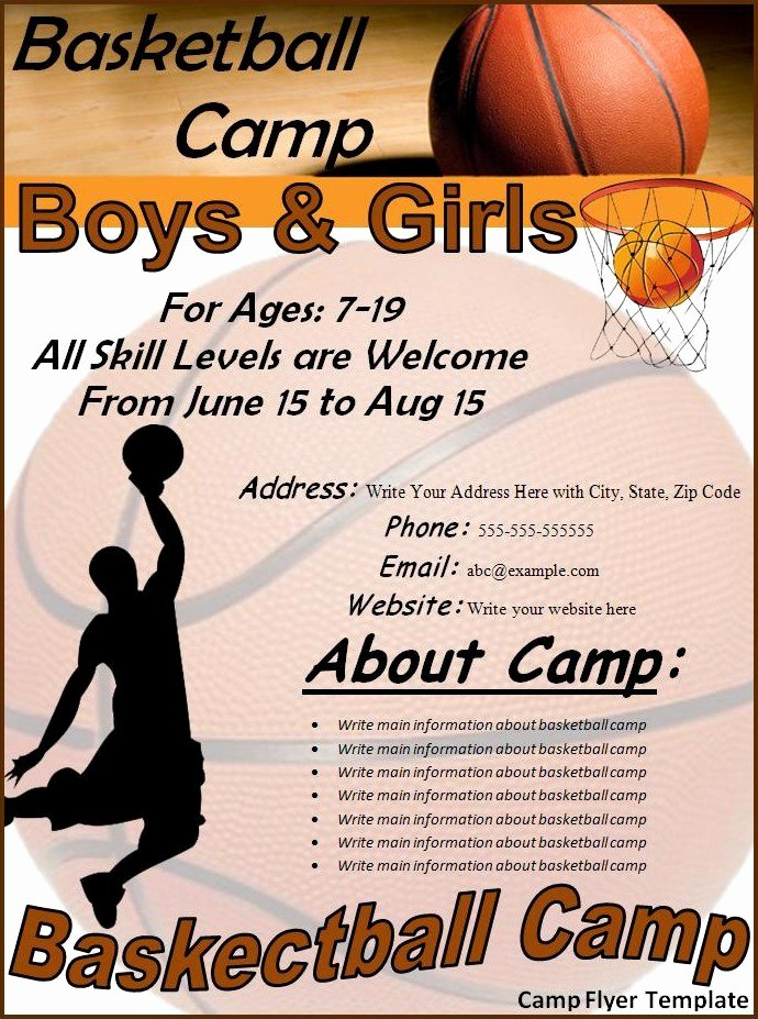 Basketball Camp Flyer Template Luxury Camp Flyer Template Best Word Templates