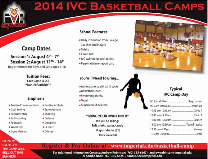 Basketball Camp Flyer Template Luxury Sports Camp Flyer Template Yourweek E74c43eca25e