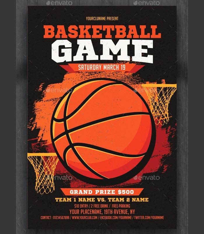 Basketball Camp Flyer Template New 36 Basketball Flyer Psd Templates Free & Premium Designyep