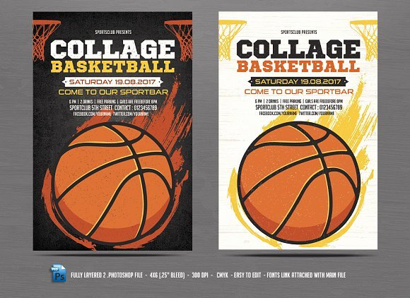 Basketball Camp Flyer Template New Basketball Flyer Template Flyer Templates Creative Market