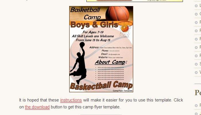 Basketball Camp Flyer Template Unique 5 Basketball tournament Flyer Templates