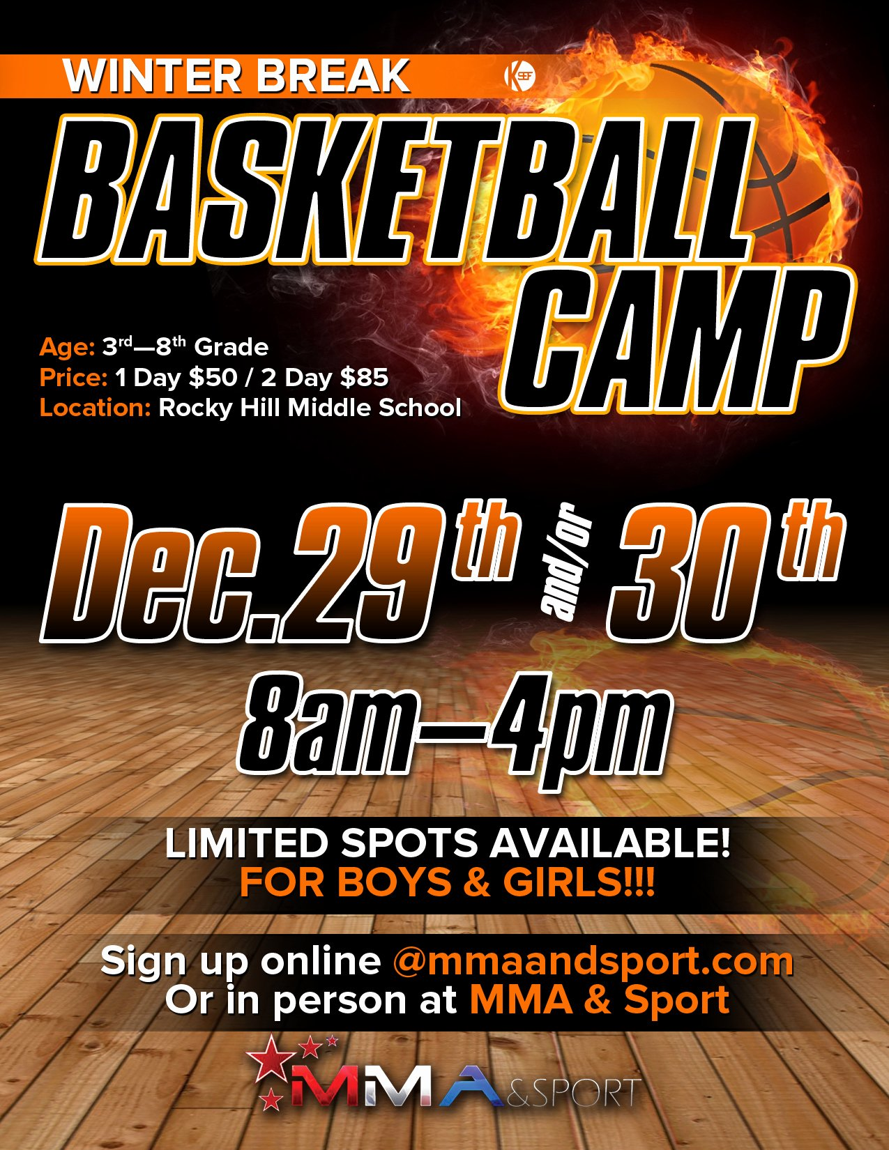 Basketball Camp Flyer Template Unique Basketball Camp