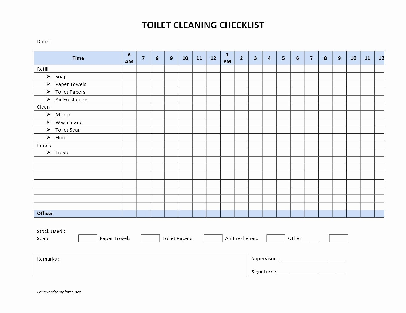 Bathroom Cleaning Checklist Template Unique toilet Cleaning Checklist