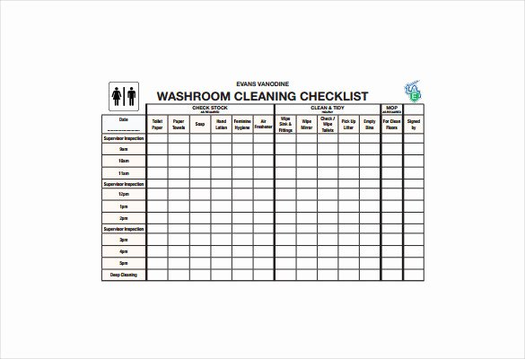 Bathroom Cleaning Schedule Template Awesome 21 Bathroom Cleaning Schedule Templates Pdf Doc
