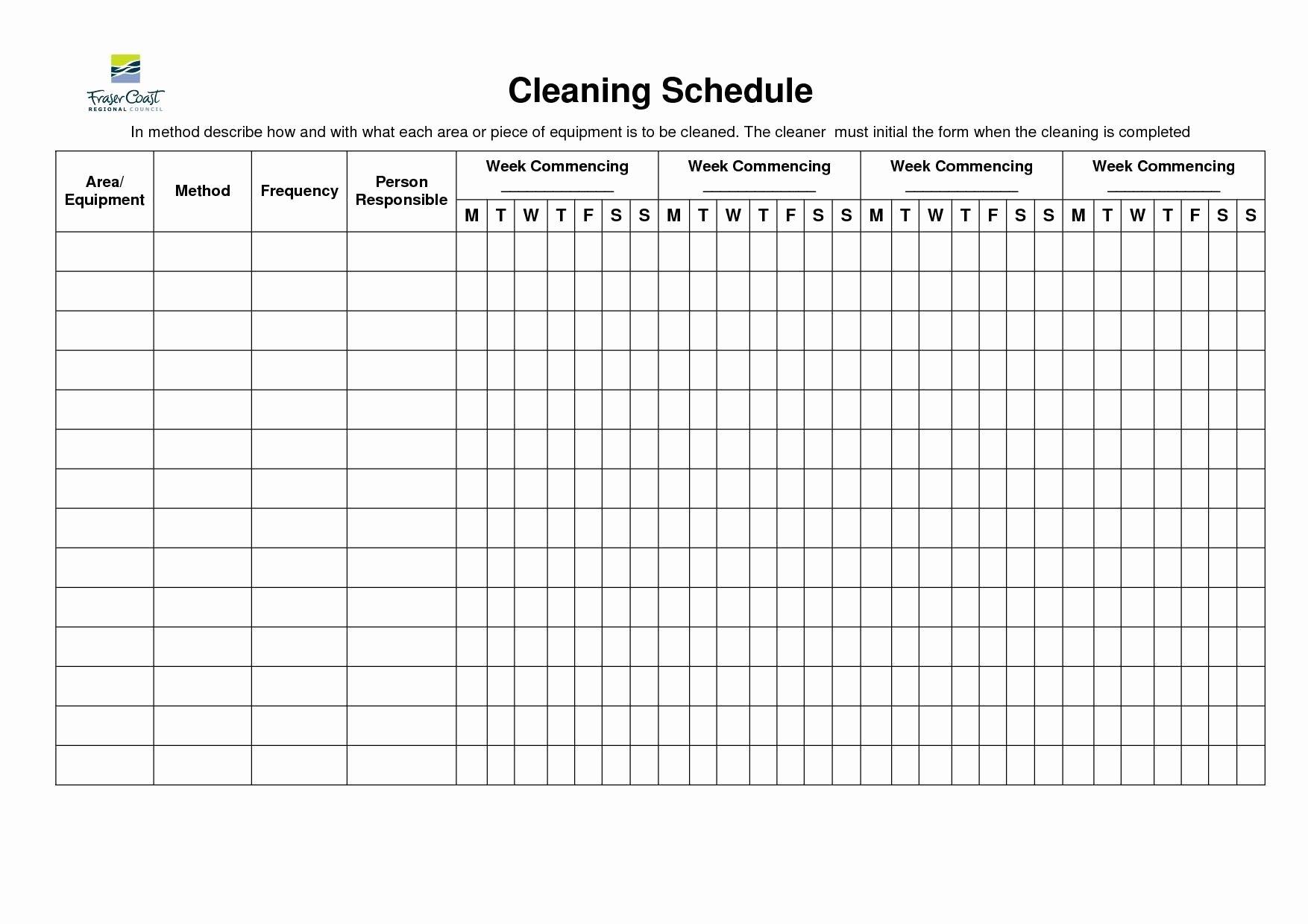 Bathroom Cleaning Schedule Template Elegant Pin Oleh Ebooklover Di Kitchen Design Ideas