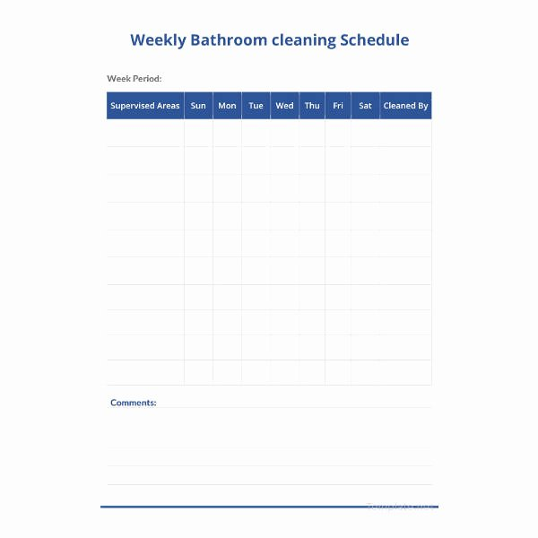 Bathroom Cleaning Schedule Template Fresh 35 Cleaning Schedule Templates Pdf Doc Xls