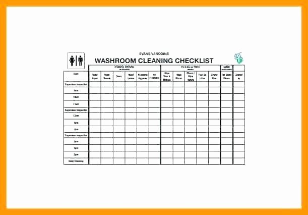 Bathroom Cleaning Schedule Template New Cleaning Checklist Template Mercial Bathroom Kitchen