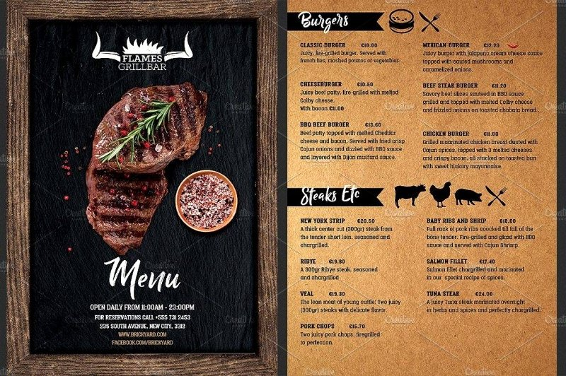 Bbq Catering Menu Template Awesome 13 Barbecue Menu Designs & Examples Psd Ai Vector Eps