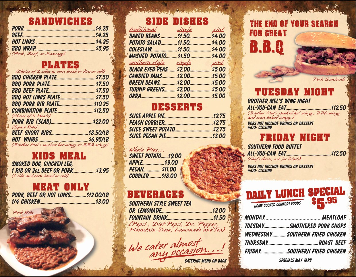 Bbq Catering Menu Template Awesome 14 Design Your Own Restaurant Menu Create Your