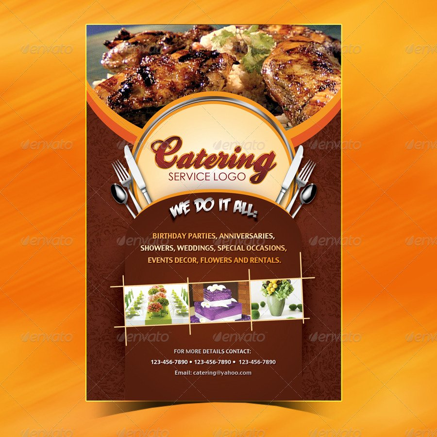 Bbq Catering Menu Template Awesome Catering Menu Template Flyer by Owdesigns
