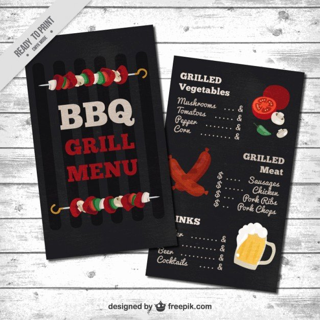 Bbq Catering Menu Template Beautiful Barbecue Menu Template Vector