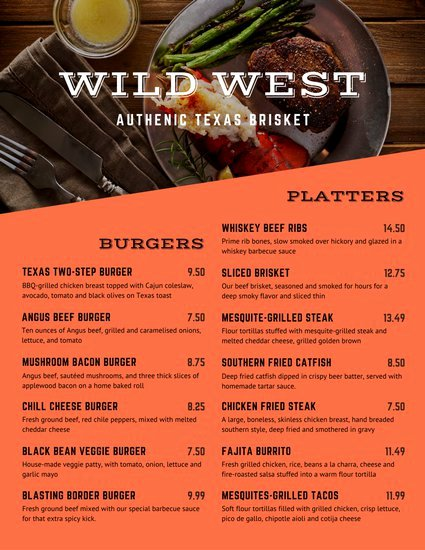 Bbq Catering Menu Template Beautiful Customize 171 Bbq Menu Templates Online Canva