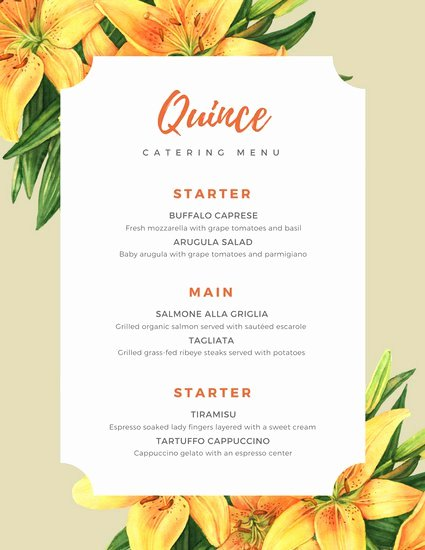 Bbq Catering Menu Template Best Of Customize 53 Catering Menu Templates Online Canva