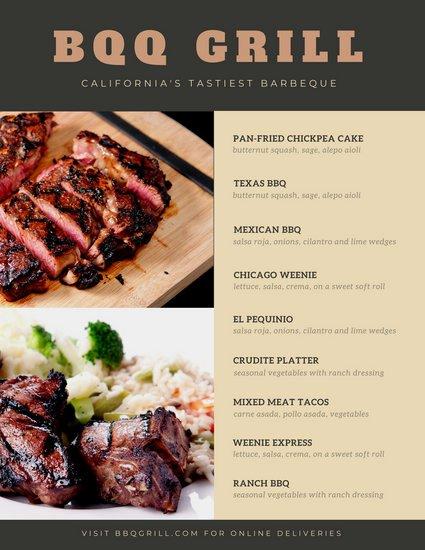 Bbq Catering Menu Template Fresh Customize 171 Bbq Menu Templates Online Canva