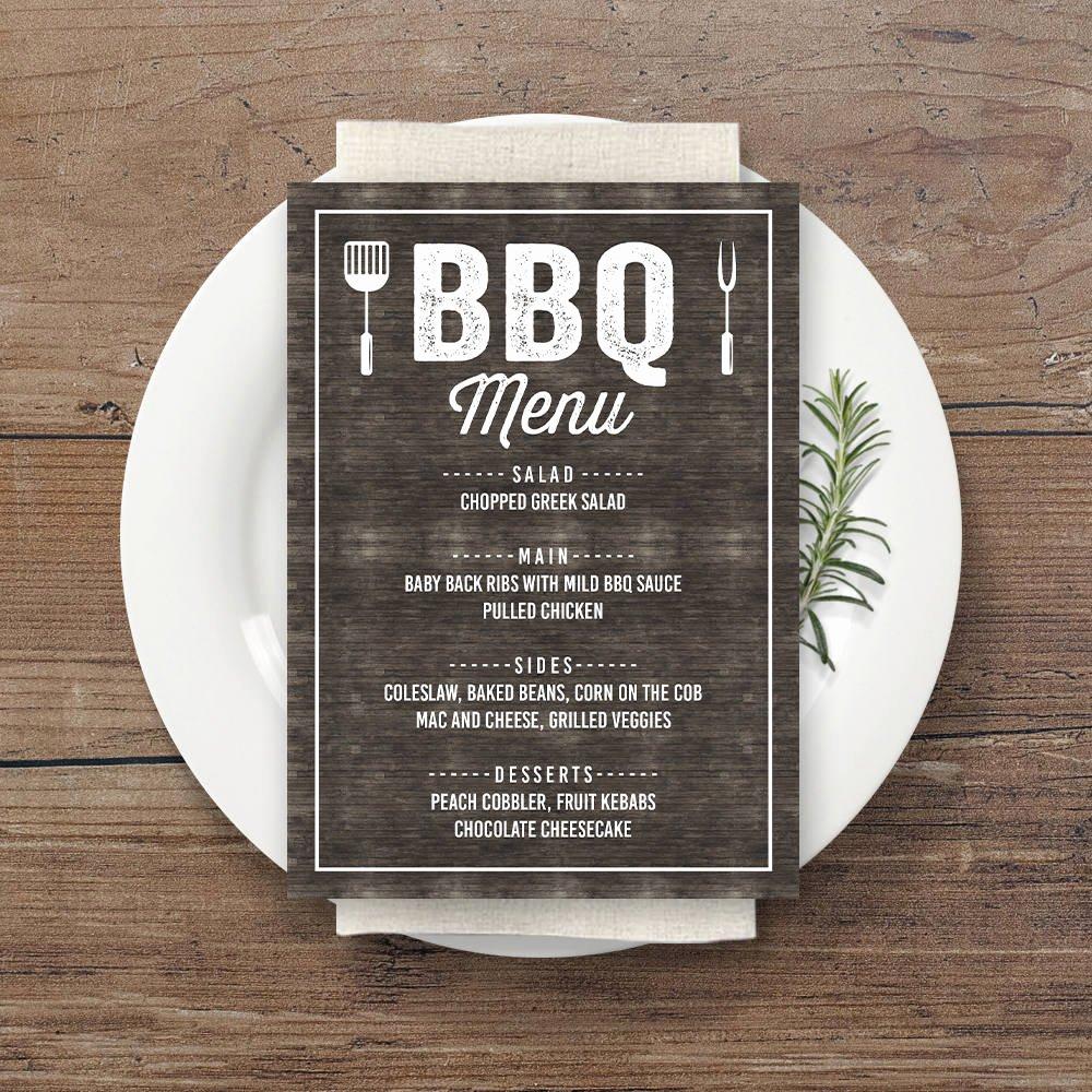Bbq Catering Menu Template Inspirational 13 Bbq Menu Designs