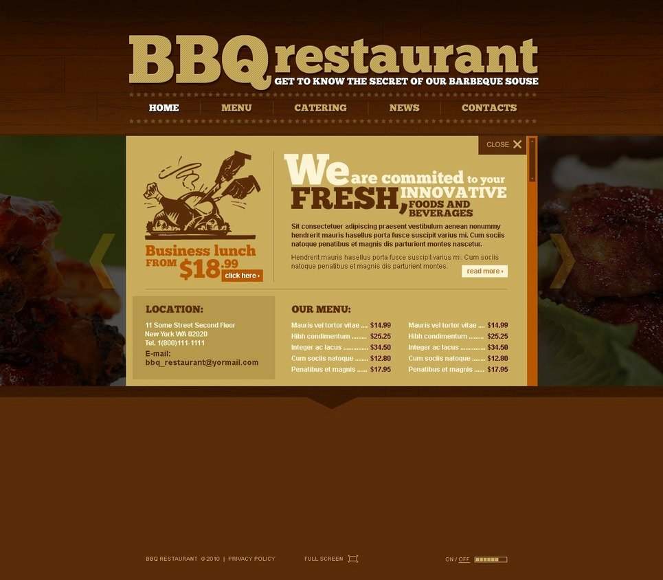 Bbq Catering Menu Template Inspirational Bbq Restaurant Flash Template