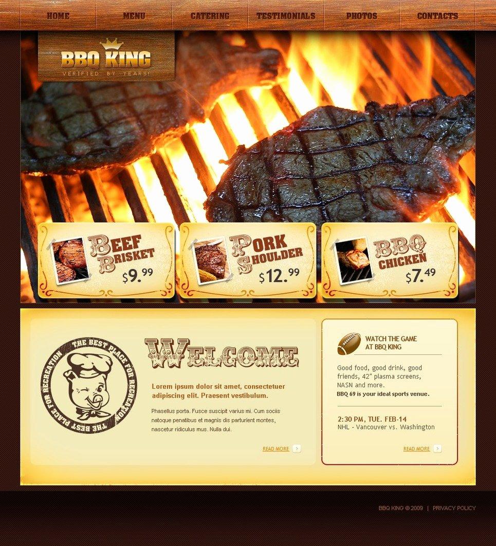 Bbq Catering Menu Template Inspirational Bbq Restaurant Website Template