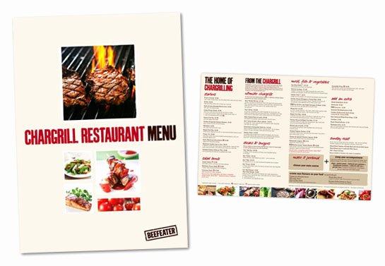 Bbq Catering Menu Template Inspirational Food Brochures Bbq Restaurant Menu Brochure