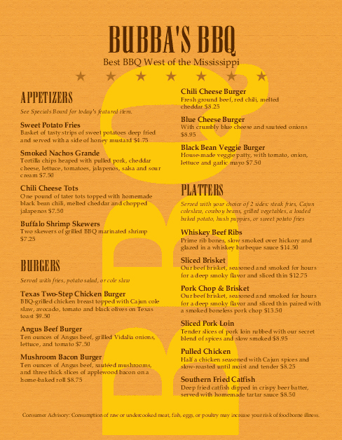 Bbq Catering Menu Template Lovely Barbeque Restaurant Menu