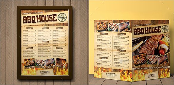 Bbq Catering Menu Template Lovely Bbq Menu Templates – 27 Free Psd Epd Documents Download
