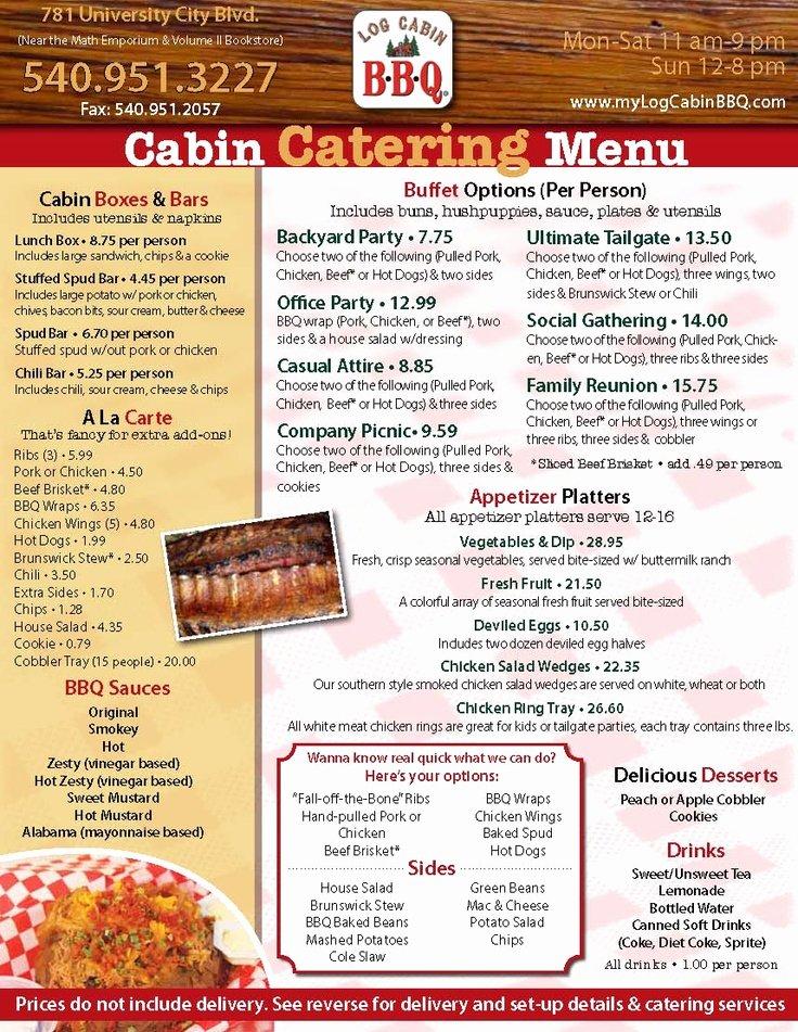 Bbq Catering Menu Template Luxury 14 Best Catering Menus Chicago Food Trucks Holidays