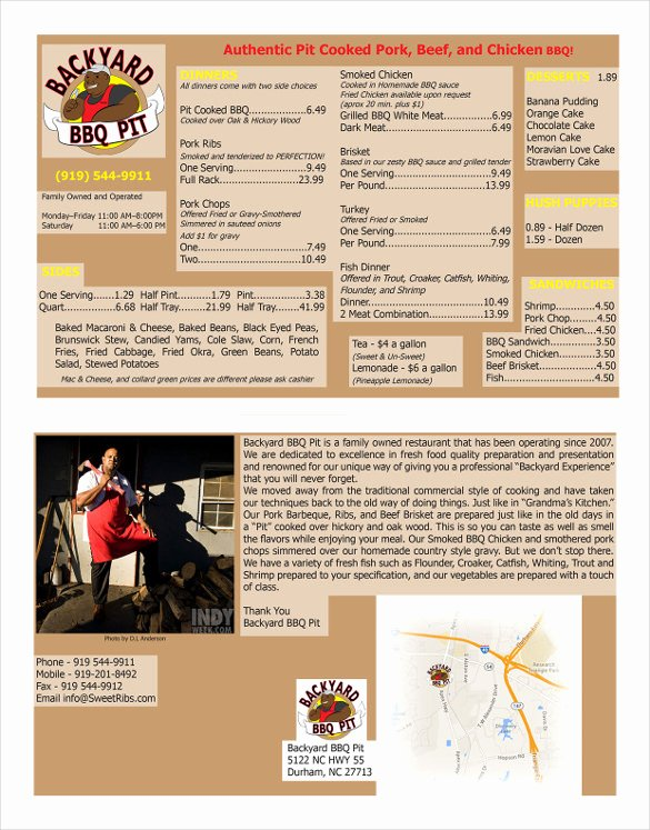 Bbq Catering Menu Template Luxury Bbq Menu Templates – 27 Free Psd Epd Documents Download