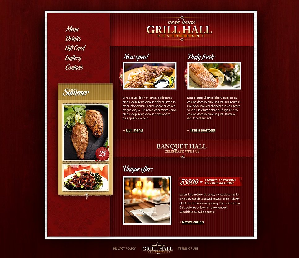 Bbq Catering Menu Template New Bbq Restaurant Website Template