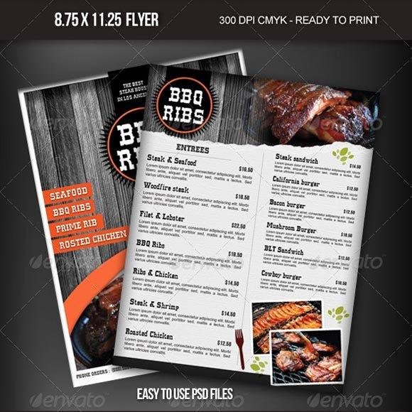Bbq Catering Menu Template New Beautiful Restaurant Menu Templates and Designs Design