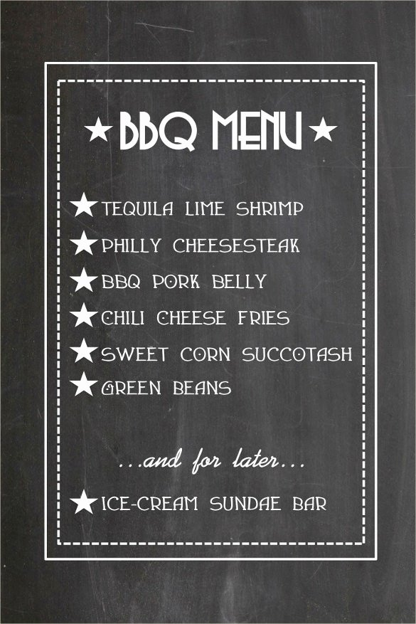 Bbq Catering Menu Template Unique Bbq Menu Templates – 27 Free Psd Epd Documents Download